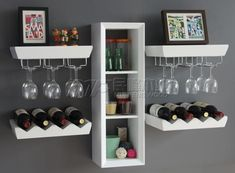 Liquor Cabinet Wine Rack | Wine rack liquor cabinet wine storage wine bottle holder wine glass ... (put baskets in middle shelves for coffee creamers etc...beverage station ) #wineracks #WineStorage