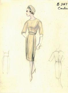 Los figurines del archivo de Bergdorf Goodman, 1950-1969