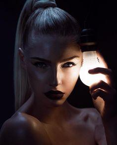 """MUSE 2 of 2  Model: @tessagreiner  Hair/Makeup: @lucysmorris  Retouching: @robynnow  #beauty #lighting #muse2016 #muse #studio122 #dark #bulb #yyc…"""