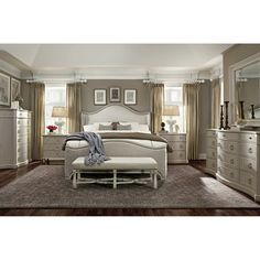 $2056.00 A.R.T. Chateaux Shelter Upholstered Sleigh Bed