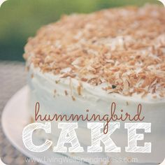 Hummingbird cake - banana cake with pineapple and coconut, and browned butter cream cheese icing. Ohmygah.