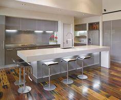 Modern Kitchen Design In Grey Season Ideas