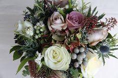 The Flower Magician: Vintage Winter Berry Bouquet