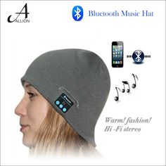 (26.97$)  Buy here - http://aickw.worlditems.win/all/product.php?id=32652111381 - Soft Warm Beanie Bluetooth Hat Smart Cap Sport Wireless Bluetooth Headset Headphone Speaker With Microphone For SmartPhone