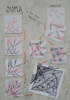 YUMA ~ A Zentangle #tangle by #CertifiedZentangleTeacher Tina-Akua Hunziker