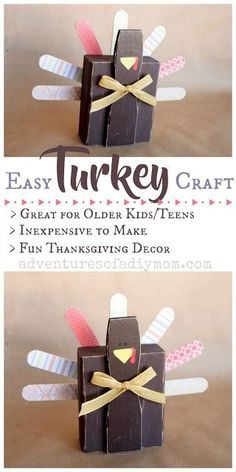 Easy Turkey Craft for Thanksgiving Decor
