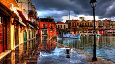 waterfront greece free download hd wallpapers