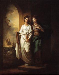 Benjamin West - Fidelia and Speranza Edmund Spenser The Fairie Queen
