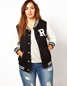 New Look Inspire | New Look Inspire Baseball Jacket at ASOS. This jacket is Very Rihanna.