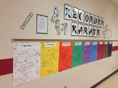 students sign their name when they achieve a belt--- this will be much easier…