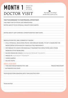 Pregnancy: Monthly Doctor Visit Journal – Today's Parent - Modern Pregnancy Scrapbook, Pregnancy Planner, Pregnancy Journal, Baby Journal, Pregnancy Info, Pregnancy Tracker, Pregnancy Cartoon, Pregnancy Checklist, Pregnancy Goals