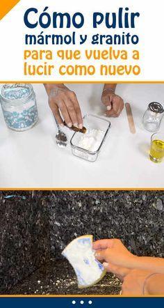 Cómo pulir mármol y granito para que vuelva a lucir como nuevo Cleaning Solutions, Cleaning Hacks, Cleaning Supplies, Power Clean, Home Fix, Mellow Yellow, Home Hacks, Clean House, Housekeeping