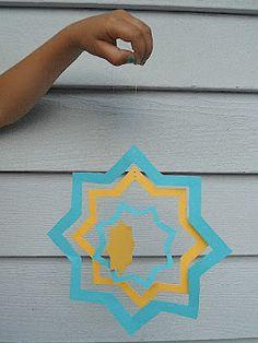 A Crafty Arab: A Nesting Islamic 8 Point Star Mobile - New Ideas Sparkle Decorations, Safari Decorations, Ramadan Decorations, Eid Crafts, Ramadan Crafts, Fest Des Fastenbrechens, Eid Favours, Eid Milad Un Nabi, Islamic Events