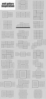 Poster/photo arranging ideas
