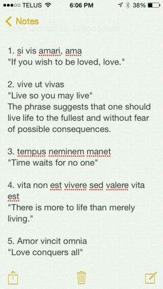 Latin Phrases                                                                                                                                                     More
