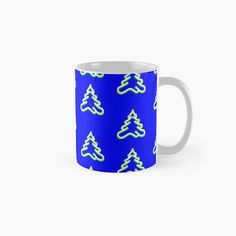 Christmas Tree Background, Conifer Trees, Blue Christmas, Finding Yourself, Ceramics, Mugs, Artist, Pattern, Prints