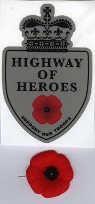 Highway of Heroes Poppy Pin Canadian Things, I Am Canadian, Canadian History, Remembrance Day Poppy, Poppy Pins, Canadian Soldiers, Armistice Day, Canada Eh, Lest We Forget