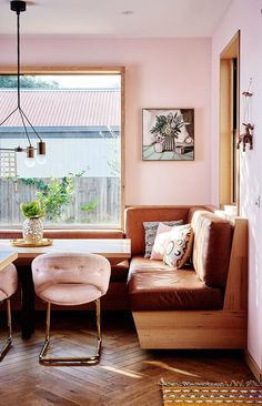 { pink velvet dining chairs. / sfgirlbybay }