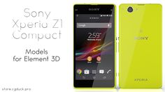 Sony Xperia Z1 Compact for Video Copilot's Element 3D. Product Link: http://store.cgduck.pro/element-3d/sony-xperia-z1-compact-e3d.html