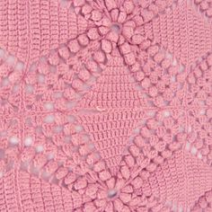 Vintage crocheted blanket Pink от lacasadecoto на Etsy