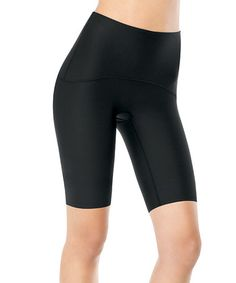 Shaping Compression Active-Wear Shorts - Black by SPANX® by Sara Blakely #zulily #zulilyfinds