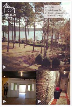 Allison's Instagram Diary: Lake Oconee, creative construction and Restoration King