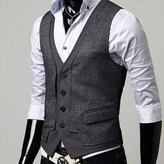 MEN'S Premium designer vest (gray) $44.43