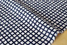 Japanese Fabric Seersucker Linen Lawn  Gingham by MissMatatabi