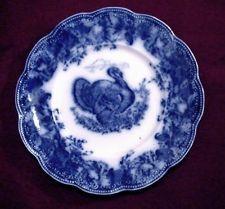 """Wedgwood antique flow blue 10"""" turkey dinner plate Clytie"""