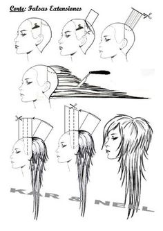 Resultado de imagen para diagram long layered haircut