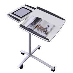 Arbeitstisch Rollbar laptop stehtisch arbeitstisch in silbergrau computertisch