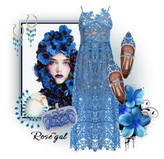 """""""I'm So Blue"""" – created by CzeCze.  Entered in the """"Show us how you style spaghetti strap dress/ROSEGAL CONTEST,"""" """"This Look is Priceless!."""" group. ROSEGAL.COM EXTRA $30-$3,$50-$5,$100-$10 SITE WIDE CODE: ROSEPC2017 ( end: 30th June)"""