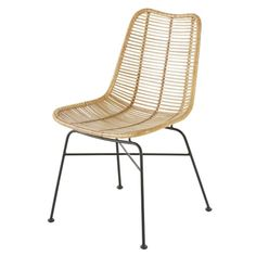 Black Rattan and Metal Chair Pitaya on Maisons du Monde. Take your pick from our furniture and accessories and be inspired! Accent Chairs For Living Room, Formal Living Rooms, Pitaya, Mango Wood Dining Table, Outdoor Chairs, Outdoor Furniture, Futuristic Interior, Style Deco, Metal Chairs