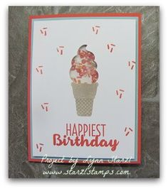Stampin'Up! Shaker Card with the Cool Treats bundle and Sprinkles Embellishments http://www.starzlstamps.com/2017/03/cool-treats-shaker-card.html
