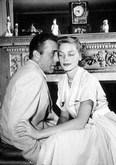 Humphrey Bogart and Lauren Bacall at home, circa 1947.