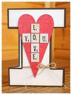 I Love You Shape Card