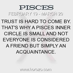 Fact about Pisces: Trust is hard to come by. That's why a Pisces inner... #pisces, #piscesfact, #zodiac. More info here: https://www.horozo.com/blog/trust-is-hard-to-come-by-thats-why-a-pisces-inner/ Astrology dating site: https://www.horozo.com