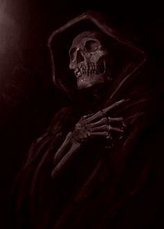Tatuaje Grim Reaper, White Over Black Tattoo, Dark Fantasy, Fantasy Art, Skull Reference, Skeleton Drawings, Myths & Monsters, Dark Souls Art, Death Art