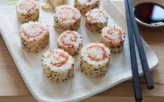 Bagel Sushi Rolls Everything Bagel Sushi Rolls recipe from Food Network Kitchen via Food NetworkSushi (disambiguation) Sushi is a Japanese food made out of vinegared rice. Sushi may also refer to: Breakfast Sushi, Sushi Roll Recipes, Best Sushi Rolls, Homemade Sushi Rolls, Cooked Sushi Recipes, Food Network Recipes, Cooking Recipes, Everything Bagel, Rolls Recipe