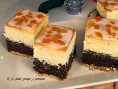 Polish Desserts, Polish Recipes, Polish Food, Pudding Cake, Healthy Tips, Cheesecake, Good Food, Food And Drink, Cooking Recipes