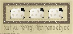 1450 - Count Your Blessings-Count Your Blessings stitch sheep stencil quilt them one by quilting sewing primitive