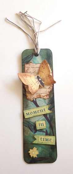 Moment in Time Bookmark. Handmade Bookmark. ItemB1 by JoannaJeanne