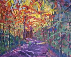 """""""Autumn Leaves"""" Expressionistic Colorful Themed Art"""