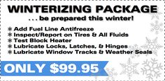 Winterizing Package | December 2014