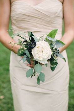Wedding Trend We Love: Single-Bloom Bridesmaid Bouquets- using dark pink peony