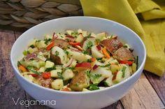 Salada Rústica de Batatas com Mostarda - Veganana