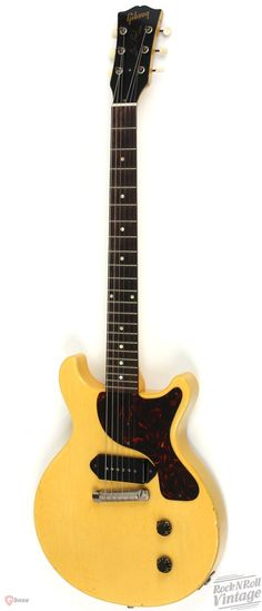 1958 Gibson Les Paul Junior Double Cut TV Yellow > Guitars : Electric Solid Body - Rock n Roll Vintage Guitars