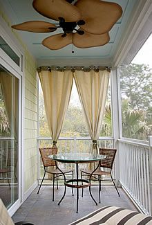 Love the curtain idea for the end of my porch