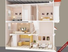xây dựng, kiến trúc, tham khảo, tư vấn, nhà 1 trệt 1 lửng 1 lầu, google Sims House Plans, Small House Floor Plans, House Layout Plans, House Layouts, Small Space Interior Design, Small House Design, Modern House Design, Home Interior Design, House Construction Plan
