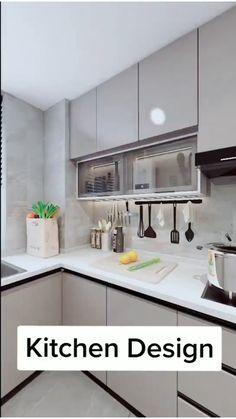Luxury Kitchen Design, Kitchen Room Design, Kitchen Layout, Interior Design Kitchen, Kitchen Decor, Simple Kitchen Design, Kitchen Furniture, Kitchen Cupboard Designs, Kitchen Ideas